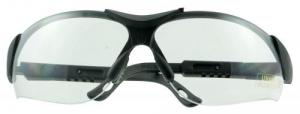 Walkers GWPXSGLCLR Shooting Glasses Elite Shooting/Sporting Glasses Black Frame Polycarbonate Clear Lens - GWPXSGLCLR