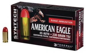 Federal AE45SJ1200 American Eagle .45 ACP 230 GR Total Syntech Jacket Round Nose (TSJRN) 200 Bx/ 5 Cs