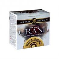 "Federal GMT17175 Premium Gold Medal Grand Paper 12 GA 2.75"" 1 1/8 oz 7.5 Round 25 Bx/ 10 Cs"