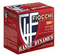 Fiocchi 9ARD100 Range Dynamics 9mm 115 GR Full Metal Jacket (FMJ) 100 Bx/ 10 Cs