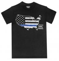 Glock Blue Line T-Shirt Short Sleeve X-Large Black - AP95163