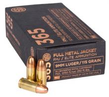 Sig Sauer E9MMB136550 Elite Ball FMJ 9mm Luger 115 GR Full Meta