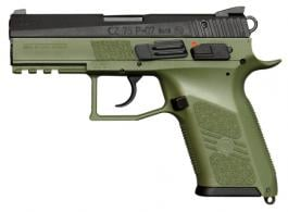CZ-USA P-07 9mm Luger Single/Double 3.75 10+1 OD Green Interchangeable Back - 01077