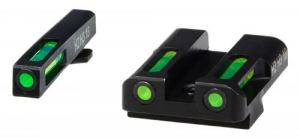 Hiviz GLN325 LiteWave H3 Fits Glock 9/40/357 (Not 42/43) Tritium/Fiber Optic Green Tritium/Fiber Optic Green Black - GLN325
