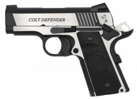 Colt Mfg O7080CE Defender Combat Elite 45 ACP Single 3.0 8+1 Black G10 Half C - O7080CE