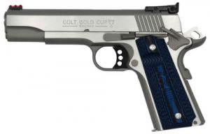 Colt Mfg O5073GCL Gold Cup Lite 38 Super Single 5 8+1 Blue G10 Checkered w/Scal - O5073GCL