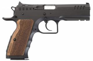 Italian Firearms Group (IFG) TFSTOCKI9 Stock I 9mm Double Action 4.45 17 Round Wood Grip Black Slide - TFSTOCKI9