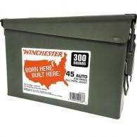 Winchester Ammo WW45C USA Ammo Can  45 ACP 230 GR Full Metal Jacket (FMJ) 300 Bx/ 2 Cs - 12
