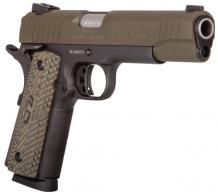Taurus 1191101MGVZ 1911 .45 ACP Single 5 8+1 Brown VZ Grip Green Cerekote Slide - 1191101MGVZ
