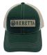 Beretta USA BC0620166000 Patch Trucker Hat Green - BC0620166000