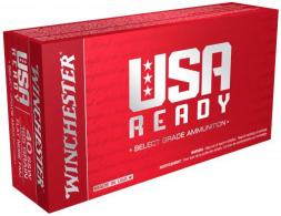 Winchester Ammo RED40 USA Ready 40 S&W 165 GR Full Metal Jacket Flat Nose 50 Bx/ 10 Cs - RED40