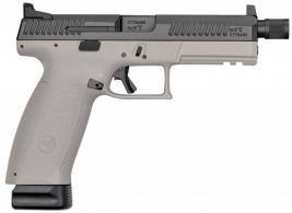 CZ-USA P-10 Full Size 9mm Double 4.50 21+1 Gray Polymer Grip Black Nitride Slide - 91544