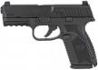 FN HERSTAL 66100463 509 Mid-Size 9mm Double Action 4 15+1 Black Interchangeable Backst - 66100463