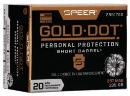 Speer Ammo 23617GD Gold Dot Personal Protection 9mm Luger +P 124 GR Hollow Point 20 Bx/ 10 Cs