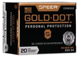Speer Ammo 23980GD Gold Dot Personal Protection 44 Special 200
