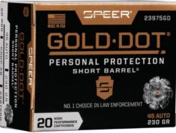 Speer Ammo .45 ACP Gold Dot Personal Protection 230 GR Hollow Point 20 Bx/ 10 Cs