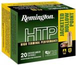 Remington HTP 9mm+P 115 GR Jacketed Hollow Point (JHP) 20 Bx/ 25 Cs