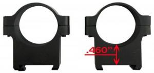 "CZ-USA CZ 550/557 Scope Rings 1"" Ring Set Low Aluminum Black Matte - 40010"