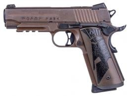 Sig Sauer 1911R45SPARTANII 1911 Full Size Spartan II .45 ACP Single 5 8+1 Black Spartan II Grip Distressed Coyote Stainless Stee - 1911R45SPARTANII