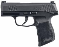 Sig Sauer P365 Micro-Compact 9mm Double Action 3.1 10+1 Manual Safety Black Polymer - 3659BXR3MS