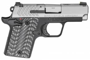 Springfield Armory PG9119S 911 9mm Luger Single 2.7 6+1/7+1 Gray G10 Grip Black Hardcoat Anodized Aluminum Frame Stainless Ste - PG9119S