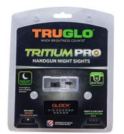 Truglo Tritium Pro Night Sights Fits Glock MOS 17/19/22/23/24/26/27/33/34/35/38/39 Green Tritium w/Orange Outline Front Tritium - TG231G1C