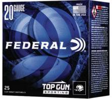 "Federal Top Gun Sporting 20 Gauge 2.75"" 7/8 oz 7.5 Shot 25 Bx/ 10 Cs - 10"