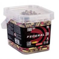 Federal AE9SJ2B500 American Eagle 9mm Luger 124 GR Total Syntech Jacket Round Nose (TSJRN) 500 Bx/ 2 Cs