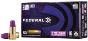 Federal American Eagle Training Match 9mm 147 GR Total Syntech jacket Flat Nose (TSJFN) 50 Bx/ 10 Cs