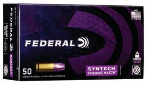Federal AE9SJ4 American Eagle Training Match 9mm 124 GR Total Syntech jacket Flat Nose (TSJFN) 50 Bx/ 10 Cs