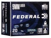 Federal S9SJT1 Syntech Defense 9mm 138 GR Segmented Jacketed Hollow Point (SJHP) 20 Bx