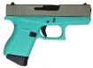 Glock UI4350201RES G43 Subcompact 9mm Double 3.39 6+1 Robin Egg Blue In - UI4350201CKRESA