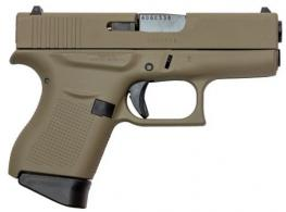 Glock UI4350201CKF G43 Subcompact 9mm Double Action 3.41 6+1 Flat Dark Earth Polymer - UI4350201CKF