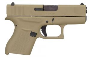 Glock G43 Subcompact 9mm Double Action 3.41 6+1 Flat Dark Earth Polymer Grip/Frame - UI4350204CKFDE