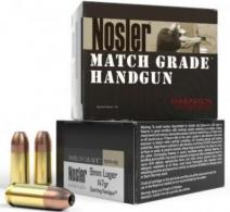 Nosler Match Grade Handgun 9mm 147 GR Jacket Hollow Point 20 Bx/ 20 Cs