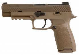 Sig Sauer 320F9M17MS10 P320 M17 9mm Double Action 4.7 10+1 Coyote Polymer Grip Coyote Stainless Steel PVD Slide - 320F9M17MS10