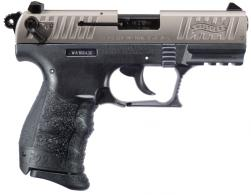"Walther P22 Q .22 LR 3.42"" 10+1 Black Nickel Slide Black Interchangeable Backstrap Grip - 5120725"