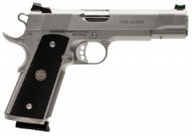 Wilson Combat CQBEFS45SS 1911 CQB Elite .45 ACP Single 5 8+1 Black G10 Diagonal Grip Stainless Steel Slide - CQBEFS45SS