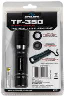 Cyclops TF-350 Tactical Clear LED 350 Lumens AA (1) Battery Black Anodized Aluminum Body - TF-350
