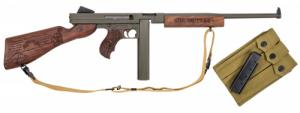 Thompson/Center Arms TM1C2 1927-A1 Ranger Thompson Semi-Automatic .45 ACP 16.5 30+1/20+1 Fixed Stock OD Green w/Patriot Brown Ce - TM1C2