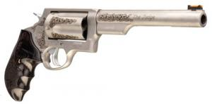 "Taurus 2441069TENG1 Judge Engraved Revolver Single/Double Action 410/45 Colt (LC) 6.5"" 5 Rd Dymondwood w/Finger Gr - 2441069TENG1"