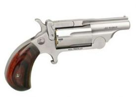 "North American Arms (NAA) 22MCR Ranger II 22 LR/22 Mag 1.63"" 5 Round Stainless Rosewood Bird's Head Grip - NAA22MCR"