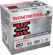 "Winchester Ammo X204 Super-X High Brass 20 GA 2.75"" 1 oz 4 Round 25 Bx/ 10 Cs"