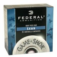 "Federal H12175 Game-Shok Upland 12 GA 2.75"" 1 oz 7.5 Round 25 Bx/ 10 Cs"
