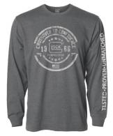 Glock Crossover Long Sleeve Gray Large - AP95795