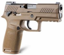 Sig Sauer 320CA9M18MS P320 M18 9mm 3.90 17+1 21+1 Coyote Stainless Steel PVD Coyote Polymer Grip - 320CA9M18MS