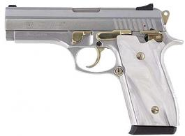 Taurus PT38 .38 super Stainless/Gold FS, Pearl grips