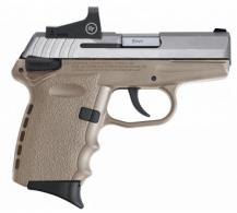 "SCCY Semi-Auto Pistol, 9MM, 3.1"" Bbl, Two-Tone, SS, Dark Earth, Crimson Trace Red Dot Sight, Manual Safet - CPX1TTDERD"