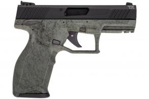 "Taurus 1TX22141SP2 TX22 22 LR 4.10"" 16+1 Green w/Black Splatter Black Anodized Aluminum Slide - 1TX22141SP2"