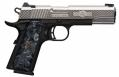"Browning 051965492 1911-380 High Grade Compact .380 ACP 3.63"" 8+1 Black Engraved Side Flats, Black Pearl Grip - 051965492"